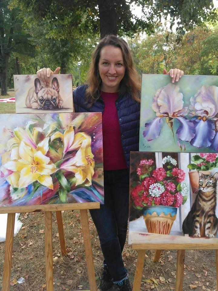 Artist Olesya Ermolaeva - dogs