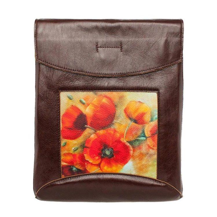 """Сумка-рюкзак с принтом Eshemoda """"Опиум"""", цвет коричневый"""