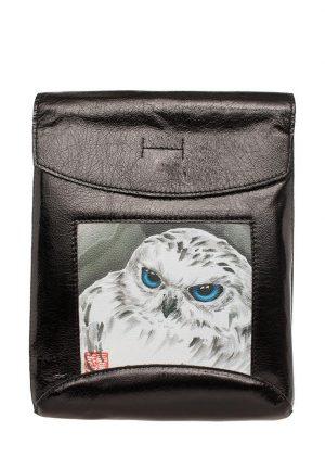 "Сумка-рюкзак ""Полярная сова"", цвет чёрный"