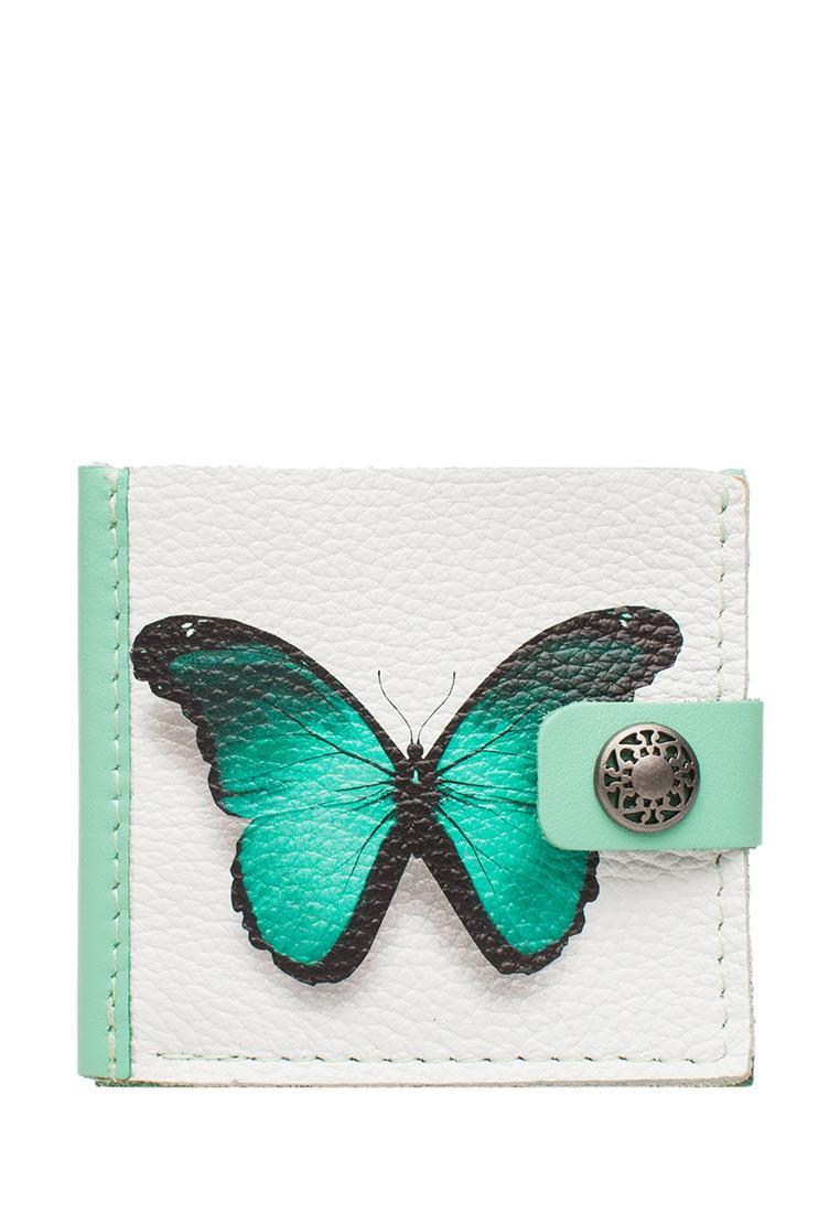 Портмоне Slim «Бирюзовая бабочка», turquoise.