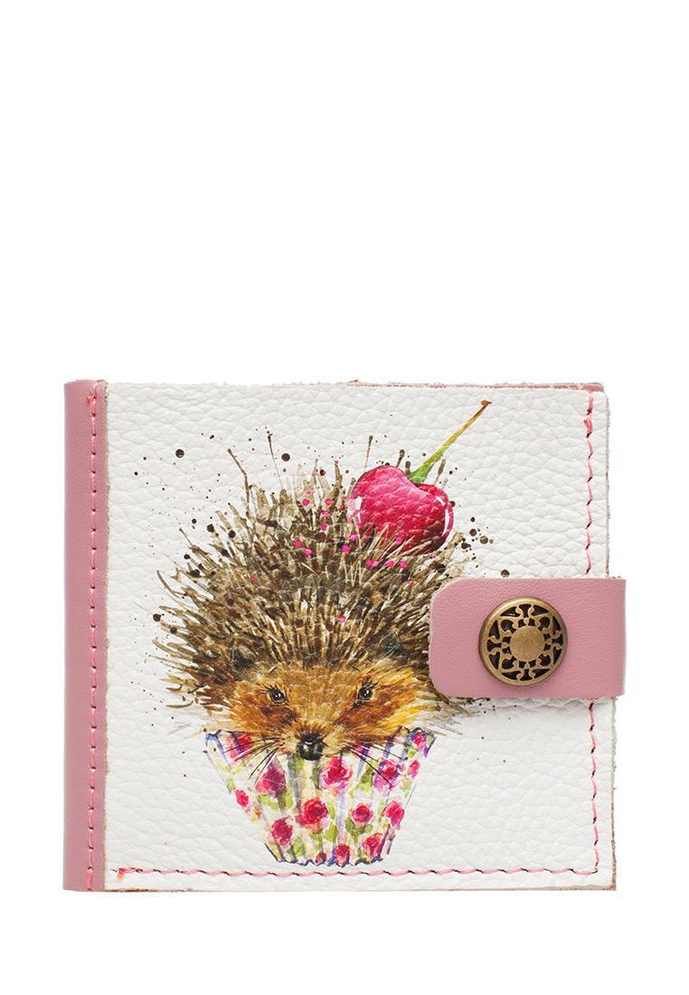 Портмоне Slim «Ежик Нафаня», pink.