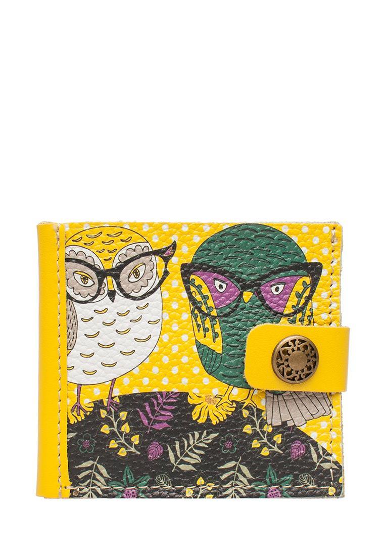 Портмоне Slim «Совы в очках», Yellow.