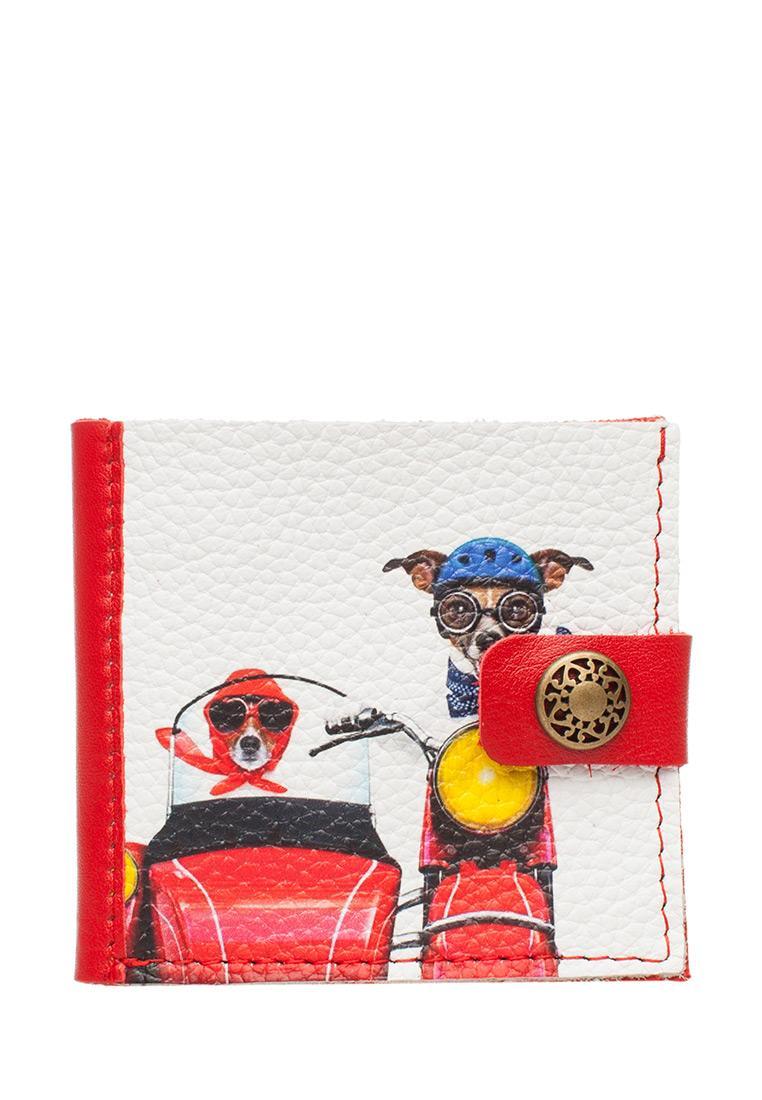 Портмоне Slim «Dogs bikers», red.