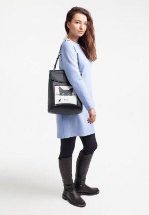 Сумка-рюкзак Meow, цвет черный