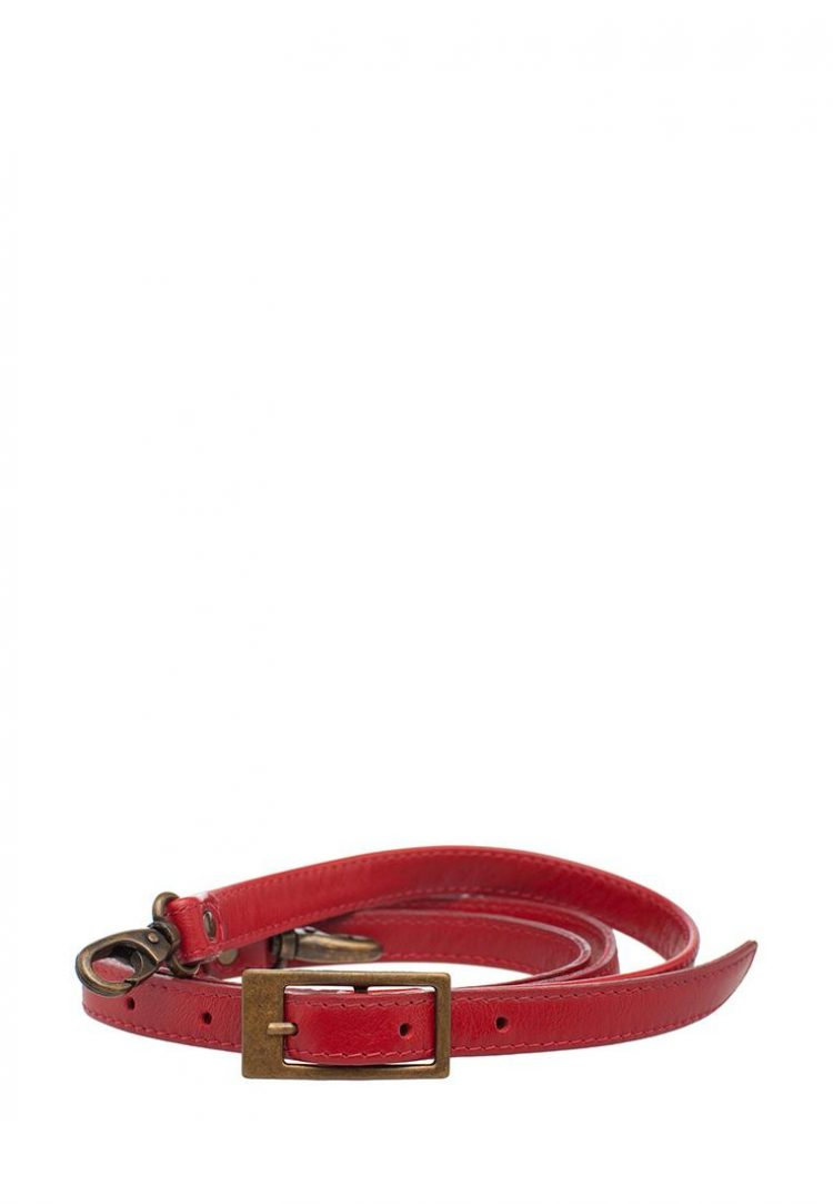 Ремешок для сумки Eshemoda длинный, натуральная кожа, цвет красный