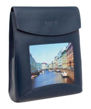 Сумка-рюкзак с принтом