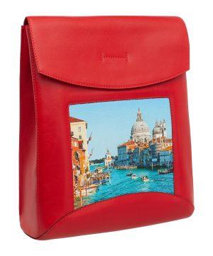Красная сумка-рюкзак Венеция