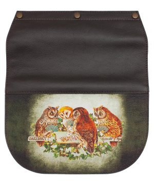 Сменный клапан для сумки с принтом с совами