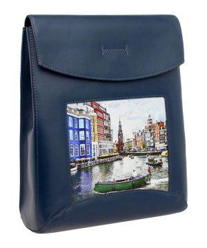 Сумка рюкзак с принтом Амстердам