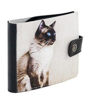 Кошелек с сиамским котом
