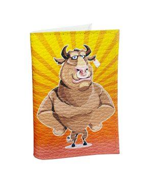 Забавный смешной бык символ года