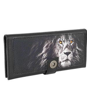 Кошелек с изображением льва